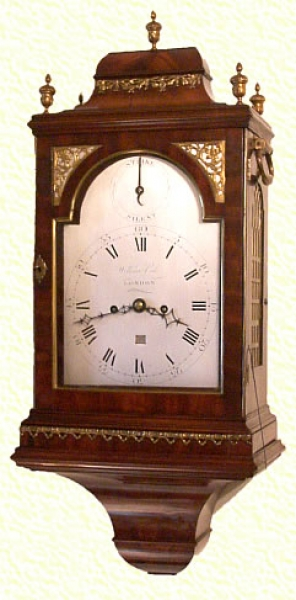 Important London Verge Bracket Clock In Mahogany Case By William Vale, London