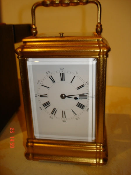 early gorge carriage clock french SOLD