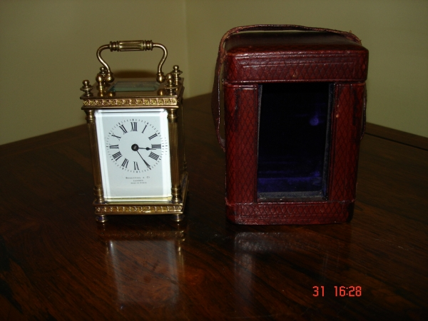 miniature carriage clock.SOLD