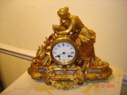 Fine Gilt Bronze Clock