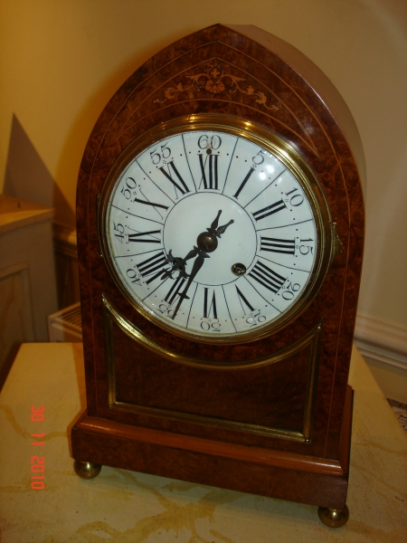 Burr Walnut Striking Clock