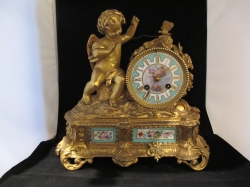 fine small french clock with dome